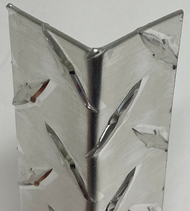 "2.5"" X 2.5"" X 48"" .063 Diamond Plate Aluminum Corner Guard"