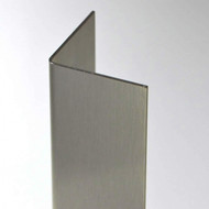 """1/2"""" X 1/2"""" X 96"""" X 16 Gauge Stainless Steel Corner Guard in a #4 Satin Finish"""