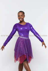 One Sizes fits most, Adult sequin hankerchief Dance Skirt (T-shirt not included)  Faldas de danza - Mallas con picos y lentejuelas de un solo tamaño (T-shirt no incluido)