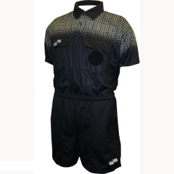 5019NC NISOA Coolwick SS Black Grid Shirt