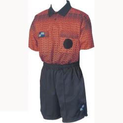 5015NC NISOA Coolwick SS Orange Grid Shirt