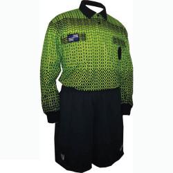 5022NC NISOA Coolwick LS Green Grid Shirt