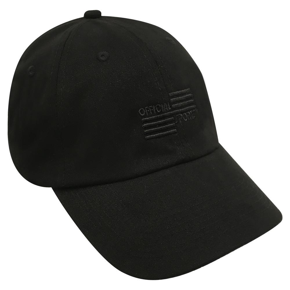 b744ff0d4f9 3024B Black Low Fit Cap W Black OSI - Official Sports International