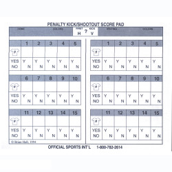 2051 Penalty Kick/Shoot-Out Scorepad