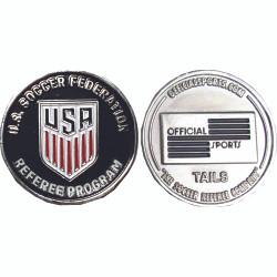 7007 U.S. Soccer Silver Flip Coin