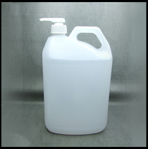 5  Litre Natural HDPE Jerry Can Lotion Pump