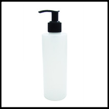 Natural HDPE 250ml Bottle with Black Pump.