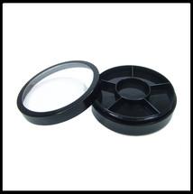Jar with 6 Way Divider and Cap - Black