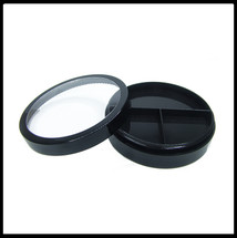 Jar with 3 Way Divider and Cap - Black 20g