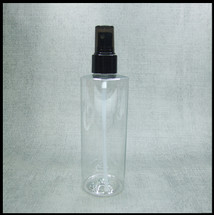 Clear PET 250ml Black Spray.
