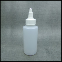 HDPE 100ml Hard Plastic Twist Top Bottle White