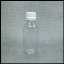 Clear PET 100ml Bottle with white lid