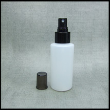 #Empty 100ml Spray Bottle HDPE Black Spray