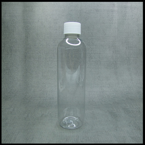 White screw top boston tall clear PET Bottle