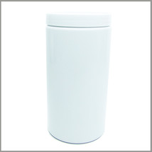 Gloss White 1000ml Tall Jar - w/Lid