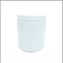 Gloss White 600ml Tall Jar