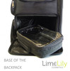 LimeLily Backpack Lower compartment