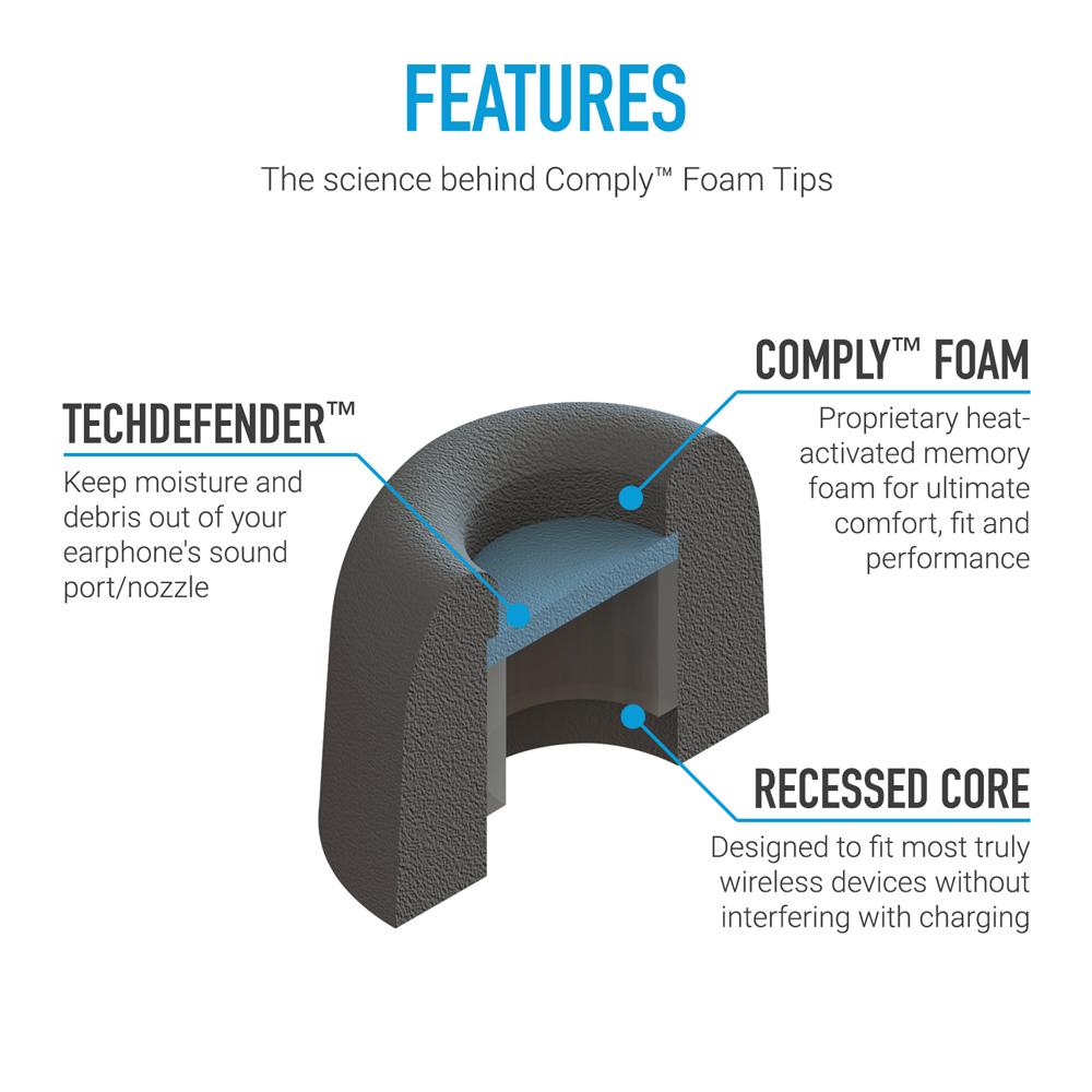 Comply Foam TrueGrip Pro