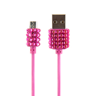 Buddee Micro-USB Cable Pink With Bling - BD403020-PK
