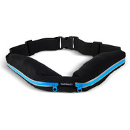 Buddee Fit Sports Waist Belt with Double Pockets - Blue