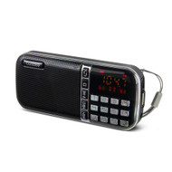 Buddee Digital Clock Radio AM/FM with USB Port - Black