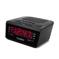 Buddee Digital Dual Alarm AM/FM Clock Radio with LED Display - Black
