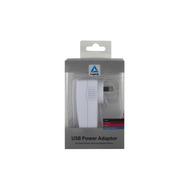Logic3 USB Wall Power Adapter 2.4A - White - IP219SA