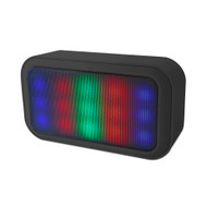 Buddee Wireless Speaker with LED Lights/FM Radio - Black - BD903001-BK