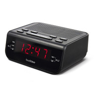 Buddee Digital AM/FM Clock Radio with LED Display - Black