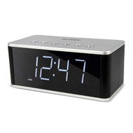 Buddee Bluetooth Alarm Clock with FM Radio, AUX, SD, USB - Black