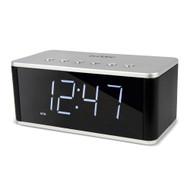 Buddee Bluetooth Alarm Clock with FM Radio, AUX, SD, USB - Black