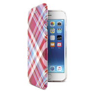 Gecko Ultra Tough Hard Cover Protection Flip case for iPhone 8/7/6/6s - Pink Tartan
