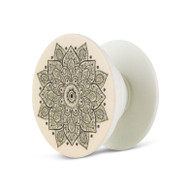 Cream Mandala Phone Pop Up Finger Grip