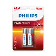 Philips AA 2 pack Power Alkaline Batteries
