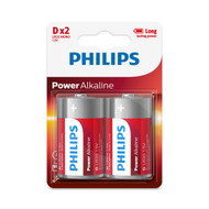 Philips D 2 pack Power Alkaline Batteries
