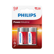 Philips C 2 pack Power Alkaline Batteries