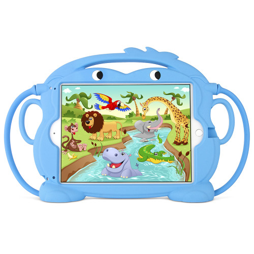 Gecko Monkey iPad Air Case Blue