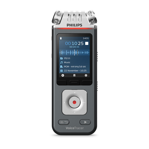 Philips DVT6110 3mic Voice Recorder with App and Share function