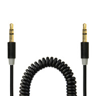 Gecko Coiled Aux Audio Cable 1.8m - Black