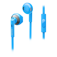 Philips In-EarBud with Mic Blue - SHE3205BL