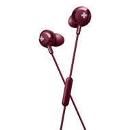 Philips BASS+ In-Ear W/MIc Red - SHE4305RD
