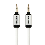 Gecko Rugged Aux Audio Round Cable 1m - White