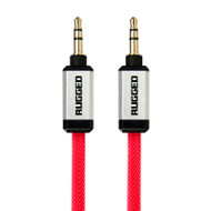 Gecko Rugged Aux Audio Flat Cable 1m - Red
