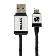 Gecko Rugged Lightning to USB Round Cable 1.5m - Black
