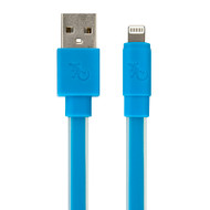 Gecko Flat Glow Cable - Lightning to USB 1.2m - Blue
