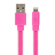 Gecko Flat Glow Cable - Lightning to USB 1.2m - Pink