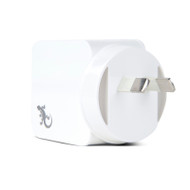 Gecko Wall Charger Dual USB Ports 3.4 Amp - White
