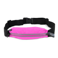 Gecko Active Single Pocket Fitness Belt- Pink