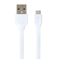 Gecko Micro-USB to USB Flat Cable 1.5m - White