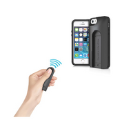 "iLuv ""Selfy"" Dual Layer Case Wireless Remote Shutter 5/5S - AI5SELFBK"